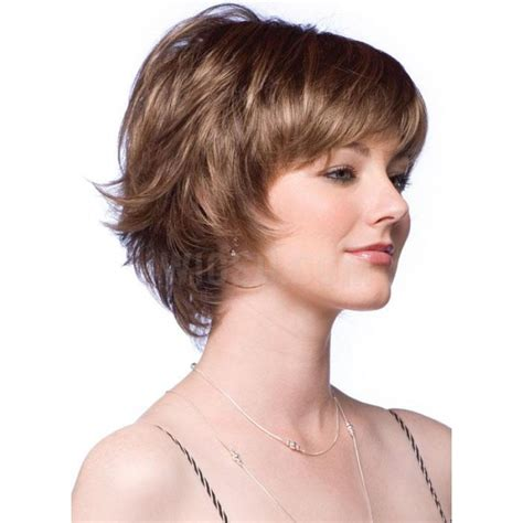 short feathered hair cuts gorgeous short feathered hairstyle synthetic hair