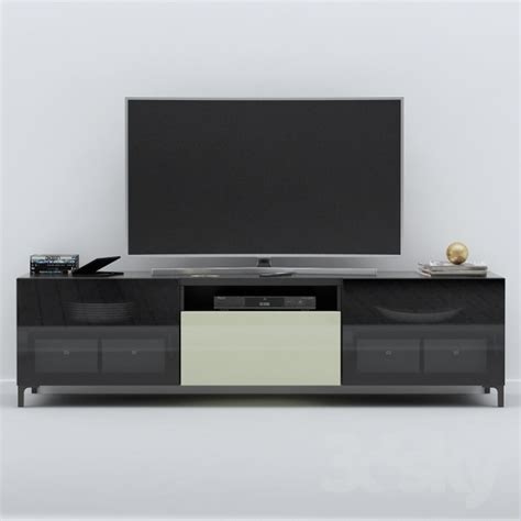 besta tv stand 3d models sideboard chest of drawer ikea besta tv stand