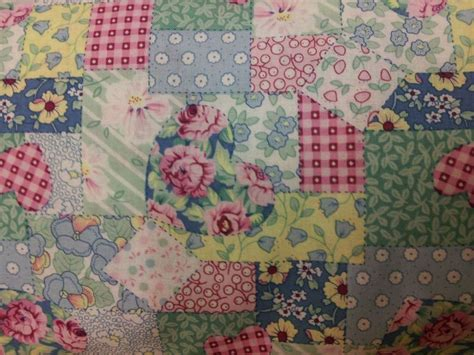 Cotton Patchwork - cotton vintage pastel patchwork bunting 4 metres approx