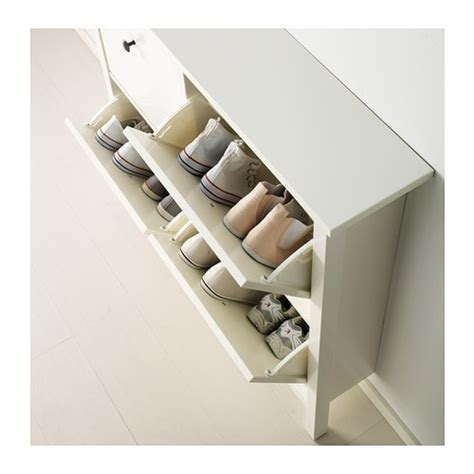 Ikea Hemnes Schuhregal by Hemnes Shoe Cabinet With 4 Compartments White 107x101 Cm