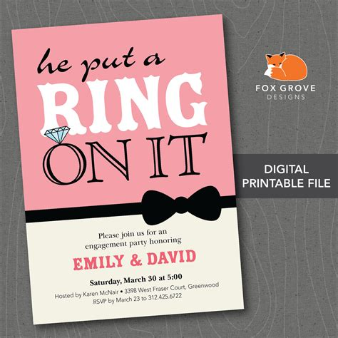 engagement invitations engagement party invitation