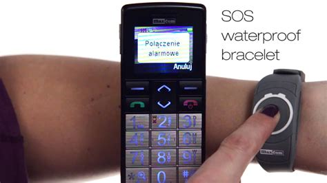 Presentation of senior GSM mobile MM715 with SOS Bracelet   YouTube