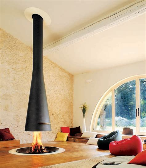 Suspended Fireplace by Hanging Fireplaces Suspended Fireplace Designs