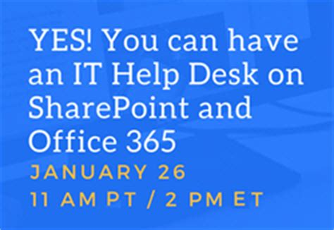 crow canyon announces quot it help desk for sharepoint