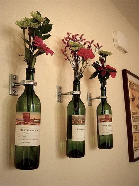 Wine Bottles As Vases by Use Empty Wine Bottles As Vases Trusper