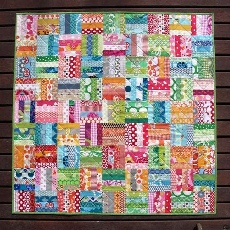 Scrap Patchwork - colorful patchwork scrap quilt