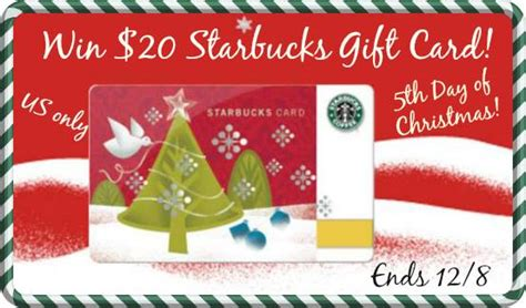 Starbucks Christmas Gift Cards 2013 - 5th day of christmas giveaway a 20 starbucks gift card couponing as a lifestyle