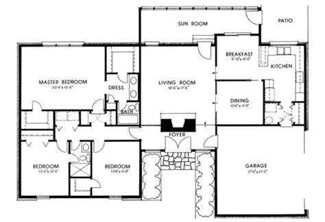 modern style house plan 3 beds 2 baths 1859 sq ft plan