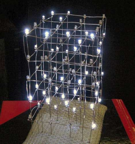 diy led chandelier from xmas lights