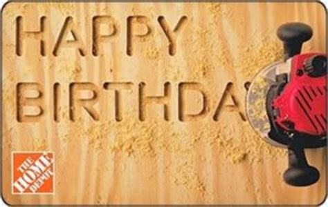 gift card happy birthday home depot united states of