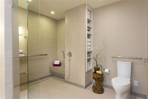 baby boomer wheelchair accessible bathroom in austinuniversal design style