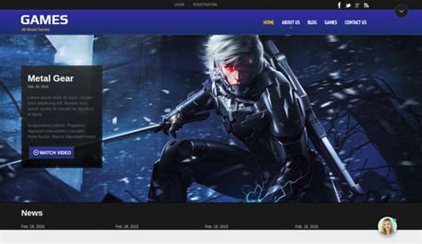 Gaming Website Templates Mystic Game Website Template Exteam Is A Truly Artistic Piece Highly Gaming Community Website Templates