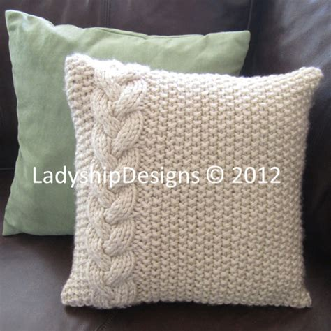 knitting pattern for cushion with buttons cable knit pillow cover pattern knit pattern pdf braided
