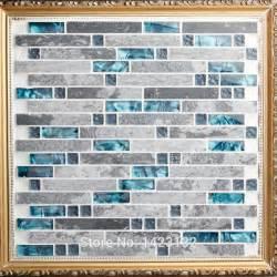 Glass Mosaic Wall Tiles Kitchen - stone mosaic tile patterns blue crystal glass tile interlocking gray marble backsplash kitchen
