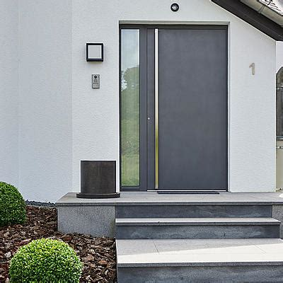 Soundproofing by Front Doors Made Of Aluminium And Wood Aluminium Keller Ag