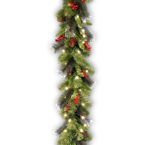 12 ft lighted garland 12 ft pre lit fairwood garland x 340 tips with 100 ul