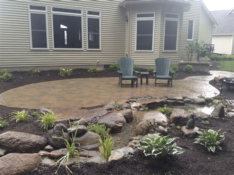 landscape design installation services landscaping ideas rochester ny acorn ponds waterfalls