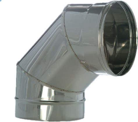 tubi per camini curve canna fumaria tubo mono parete acciaio inox 316l per