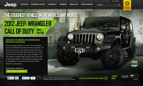 call of duty jeep modern warfare s free riff jeep wrangler call of duty mw3 edition