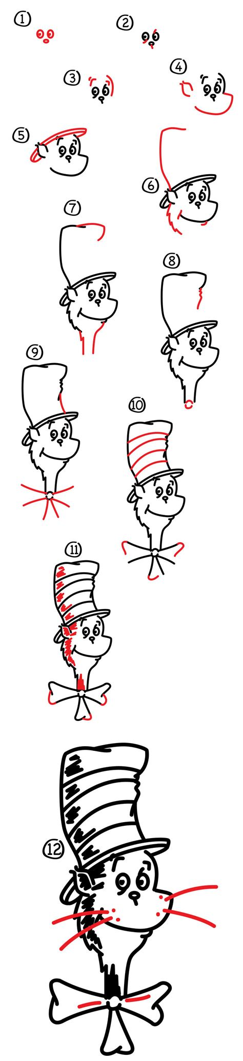 doodle cat how to make a hat cat in the hat drawing www pixshark images