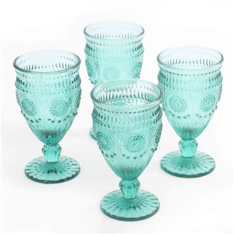 barware com au the pioneer woman 12 ounce footed glass goblets walmart ca