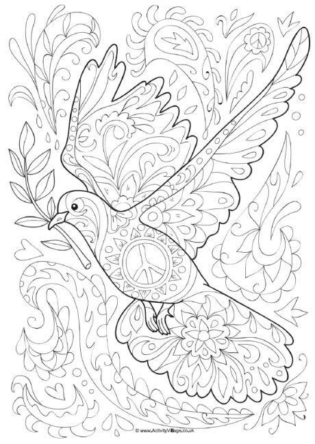 dove doodle colouring page doodle coloring coloring