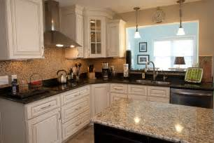 Kitchen Island Granite Countertop Kitchen Remodel With Custom Cabinets Kitchen Island Granite Countertops Tiled Backsplash And
