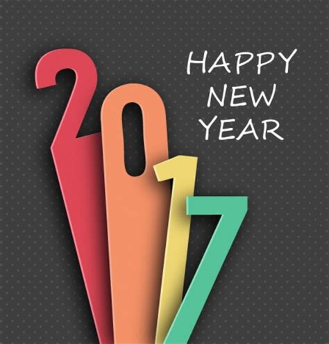 graphic design for new year 2017 new year template design with lenghthened numbers
