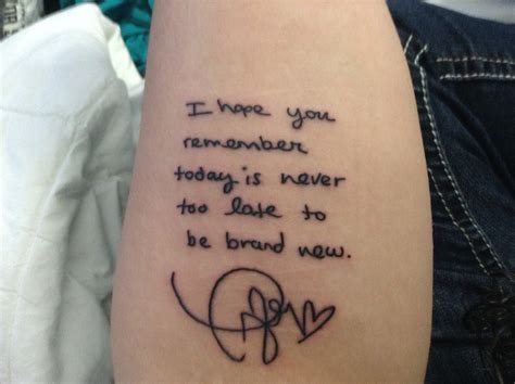 tattoo lyrics taylor swift a fan had innocent lyrics hand written by taylor