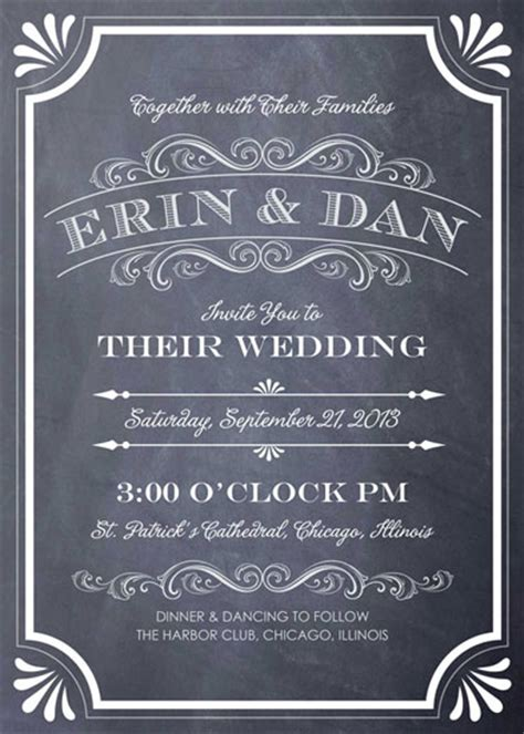 Wedding Chalkboard Font by Wedding Invitations A Chalkboard Marriage At Minted