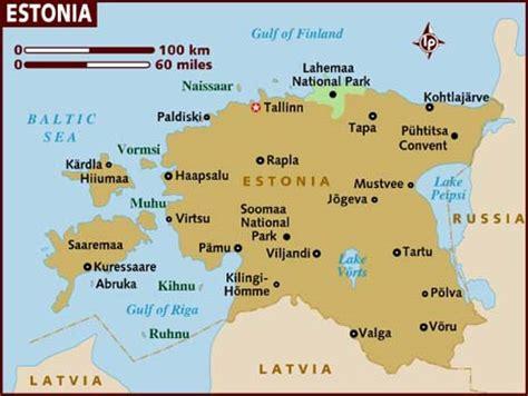 map of estonia map of estonia