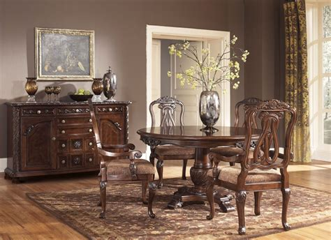 pedestal dining room set north shore round pedestal dining room set from ashley