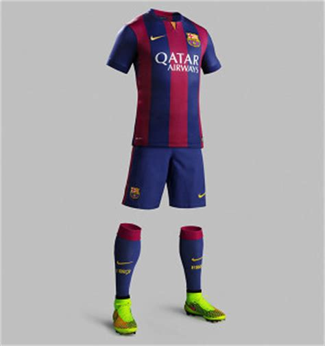 barcelona home kit nike fc barcelona home shirt 2014 15 crafted to win