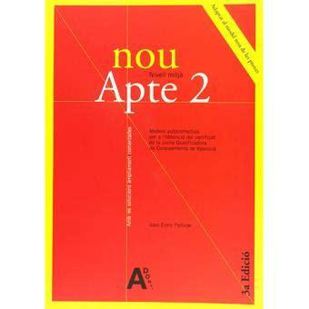 libro solucionari nou nivell c1 nou apte 2 nivell mitj 224 joan enric pellicer sinopsis y precio fnac