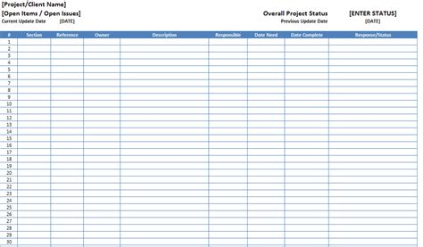 Project Log Template top 5 resources to get free project log templates word