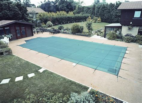 covered swimming pool deluxe criss cross winter debris pool cover