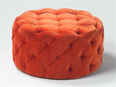 8 Creative Ottomans You Just Must Have Room Bath Orange Ottomans