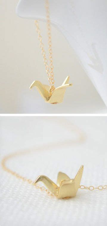 Origami Crane Symbol - origami crane necklace jewelry black
