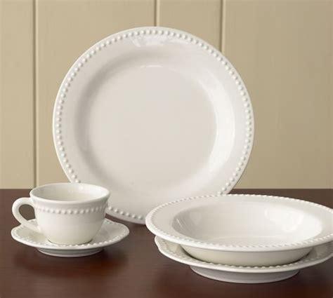 the white china barn dinnerware white pottery barn