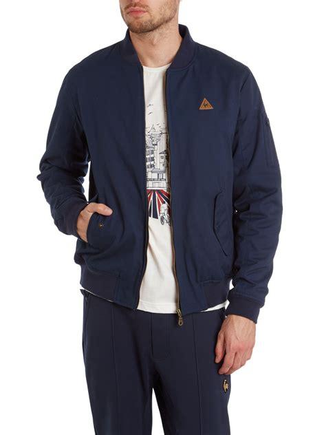 Le Coq Sportif Jacke by Le Coq Sportif Fantaise Mirantin Bomber Jacket In Blue For