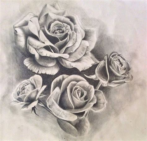 rose tattoo desing roses design drawing by pufferfishcat deviantart