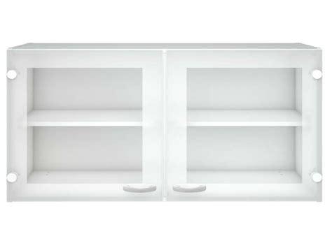 meuble haut cuisine 2 portes vitr 233 es casa coloris blanc vente de meuble haut conforama