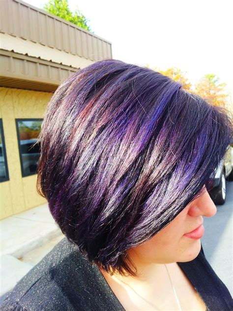 purple highlights done by a professional me i am