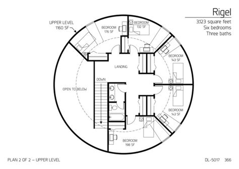 floor plans multi level dome home designs monolithic rigel series dome home 3 123 square feet six bedrooms
