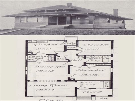 Vintage Bungalow House Plans by Vintage Bungalow House Plan Early 1900s How To Build