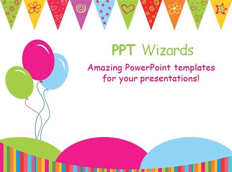 Powerpoint Template For Birthday Card by Happy Birthday Template Madinbelgrade