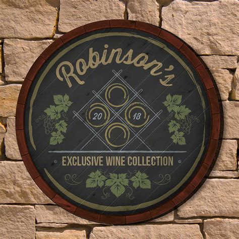 personalized home decor antique wine rack personalized home decor sign