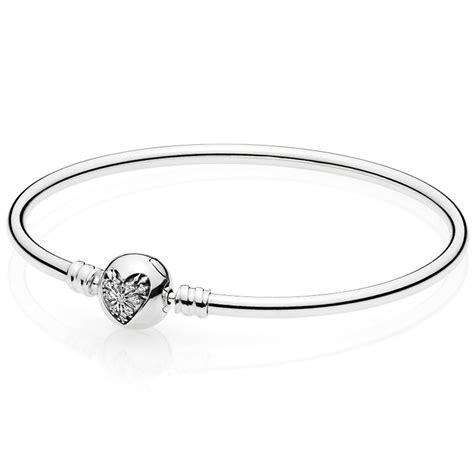 Pandora Bangle P 70 pandora moments silver bangle of winter clasp jewellery from francis gaye jewellers uk