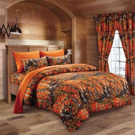 Twin Comforter Sets With Matching Curtains Orange Camo Sheet Set The Swamp Company