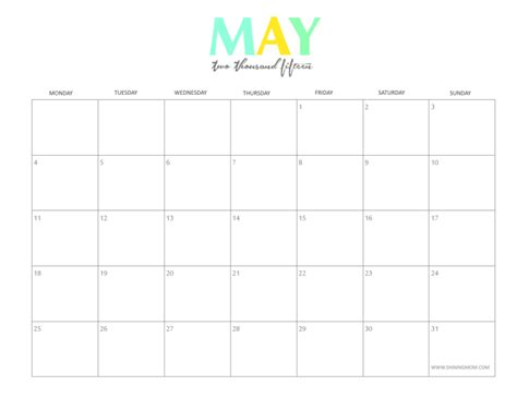 printable monthly calendar for may 2015 5 best images of may 2015 monthly calendar printable